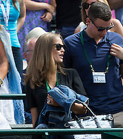 KIM SEARS, ANDY MURRAY (GBR)<br /> <br /> TENNIS - THE CHAMPIONSHIPS - WIMBLEDON 2015 -  LONDON - ENGLAND - UNITED KINGDOM - ATP, WTA, ITF <br /> <br /> &copy; AMN IMAGES