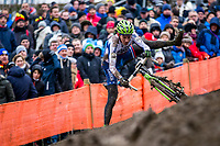Picture by Alex Whitehead/SWpix.com - 04/02/2018 - Cycling - 2018 UCI Cyclo-Cross World Championships - Valkenburg, The Netherlands - Slovakia's Martin Haring crashes during the Elite Men's race.