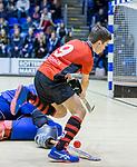 ROTTERDAM  - NK Zaalhockey  finale .hdm JB1-Schaerweijde JB1 (3-5)  . Schaerweijde  Nederlands Kampioen -16.  Lucas Veen.    COPYRIGHT KOEN SUYK