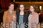 Samantha Hurley, Aoife Healy and Marguerite Trant (all from Curraheen, Tralee) pictured at the INEC Kerry Wedding Show on Sunday..