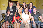 Rachel Delaney, Tralee, pictured with Nicky Norman, Lucia Wilson, Shane Delaney, Samantha Morrissey, Anne McDonnell, Danielle O'Sullivan and Bridget Walsh, as she marked her departure from Ladbrrokes, Tralee and is moving to Cork, in The Brogue Inn, Tralee on Saturday night.............