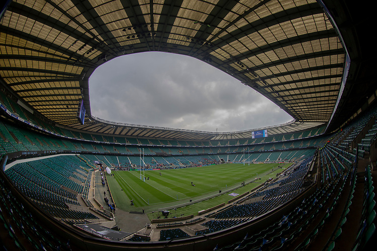A general view of Twickenham, home of England Rugby<br /> <br /> Photographer Bob Bradford/CameraSport<br /> <br /> Gallagher Premiership - Bath Rugby v Bristol Bears - Saturday 6th April 2019 - The Recreation Ground - Bath<br /> <br /> World Copyright © 2019 CameraSport. All rights reserved. 43 Linden Ave. Countesthorpe. Leicester. England. LE8 5PG - Tel: +44 (0) 116 277 4147 - admin@camerasport.com - www.camerasport.com