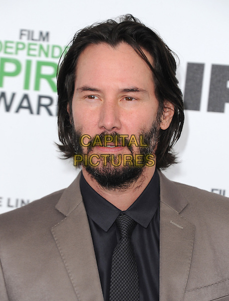 SANTA MONICA, CA, MARCH 01: Keanu Reeves at The 2014 Film Independent Spirit Awards held at Santa Monica Beach in Santa Monica, California, USA on March 1st, 2014.                                                                              <br /> CAP/DVS<br /> &copy;Debbie VanStory/Capital Pictures