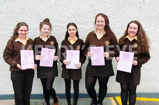 Presentation Convent, Listowel studens who completed the first exam in this Leaving Cert : Orla Daly, Aoife Hennessy, Chloe Galvin, Dearbhla Canty & Aisling Madden.