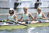 Henley, GREAT BRITAIN,  Stewards Challenge Cup, Cambridge University, bow Toby GARNETT, Henry PELLY, Pete MARSHLAND and Tom RANSLEY. 2008 Henley Royal Regatta  on Saturday, 05/07/2008,  Henley on Thames. ENGLAND. [Mandatory Credit:  Peter SPURRIER / Intersport Images] Rowing Courses, Henley Reach, Henley, ENGLAND , Pete Marsland . HRR