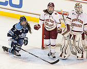 Alyson Matteau (Maine - 7), Erin Connolly (BC - 15), Katie Burt (BC - 33) - The Boston College Eagles defeated the visiting University of Maine Black Bears 2-1 on Saturday, October 8, 2016, at Kelley Rink in Conte Forum in Chestnut Hill, Massachusetts.  The University of North Dakota Fighting Hawks celebrate their 2016 D1 national championship win on Saturday, April 9, 2016, at Amalie Arena in Tampa, Florida.