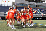 DURHAM, NC - FEBRUARY 16: Campbell's Amanda Chasin (16). The Duke University Blue Devils hosted the Campbell University Camels on February 16, 2018, at Koskinen Stadium in Durham, NC in women's college lacrosse match. Duke won the game 18-8.