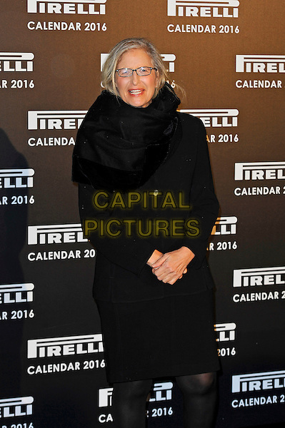 LONDON, ENGLAND - NOVEMBER 30:  Annie Leibovitz attending Gala Evening To Celebrate The Pirelli Calendar 2016 By Annie Leibovitz at Camden Roundhouse on November 30, 2015 in London, England.<br /> CAP/MAR<br /> &copy; Martin Harris/Capital Pictures
