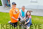 Louise Porter, Tim and Eden Ryan and Tipp the dog at the Donal Walsh 6k walk at the Spa NS on Sunday.