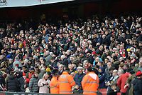 Fans  during Arsenal vs West Ham United, Premier League Football at the Emirates Stadium on 7th March 2020