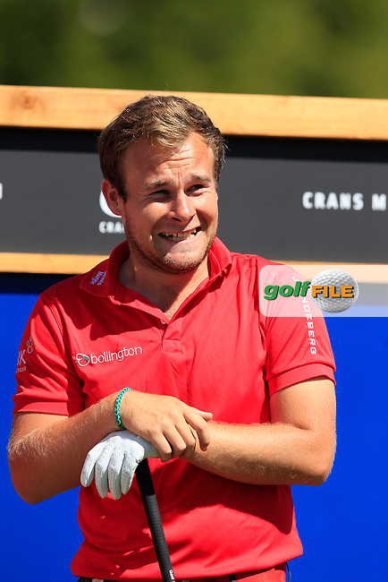 Tyrrell HATTON (ENG) waits to tee off the 14th tee during Saturday's Round 3 of the 2014 Omega European Masters held at the Crans Montana Golf Club, Crans-sur-Sierre, Switzerland.: Picture Eoin Clarke, www.golffile.ie: 6th September 2014