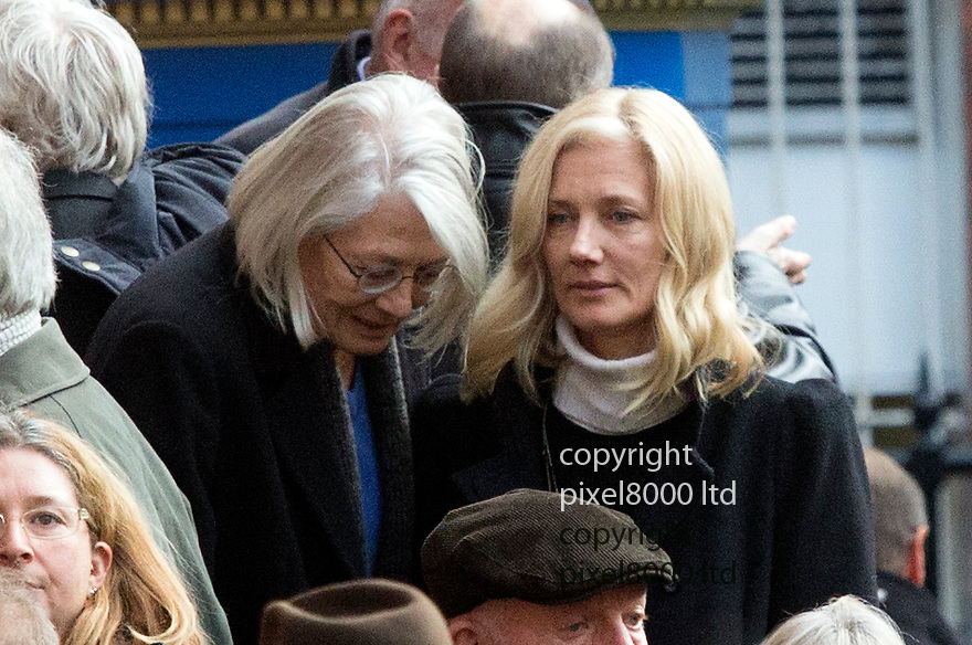 Pic shows: Vanessa Redgrave - and daughter Joely Richardson<br /> <br /> Funeral of Roger Lloyd-Pack - &quot;Trigger&quot; from Only Fools and Horses.<br /> <br /> Mourners arriving at the service at Actors Church in Covent Garden -<br /> <br /> <br /> <br /> <br /> Pic by Gavin Rodgers/Pixel 8000 Ltd