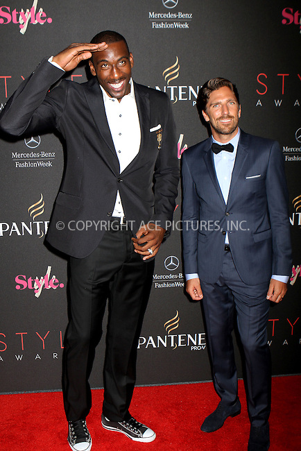 WWW.ACEPIXS.COM....September 5, 2012, New York City, NY.......Amar'e Stoudemire and Henrik Lundqvist arriving at the 9th Annual Style Awards at Lincoln Center on September 5, 2012 in New York City.........By Line: Nancy Rivera/ACE Pictures....ACE Pictures, Inc..Tel: 646 769 0430..Email: info@acepixs.com