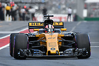 March 25, 2017: Nico Hulkenberg (DEU) #27 from the Renault Sport F1 team leaves the pits for the qualifying session at the 2017 Australian Formula One Grand Prix at Albert Park, Melbourne, Australia. Photo Sydney Low