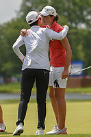 Carlota Ciganda (ESP) hugs Hyo Joo Kim (KOR) following round 4 of the 2018 KPMG Women's PGA Championship, Kemper Lakes Golf Club, at Kildeer, Illinois, USA. 7/1/2018.<br /> Picture: Golffile | Ken Murray<br /> <br /> All photo usage must carry mandatory copyright credit (&copy; Golffile | Ken Murray)