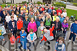 Pictured at the rail line walk from St. Brendans Church, Tralee on Sunday.