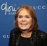 "Gloria Steinem attends the Opening Night Performance of ""Gloria: A Life"" on October 18, 2018 at the Daryl Roth Theatre in New York City."