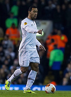12.12.2013 London, England. Tottenham Hotspur midfielder Mousa Dembélé (19) during the Europa League game between Tottenham Hotspur and Anzhi Makhachkala from White Hart Lane.