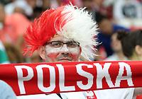 Polnischer Fan mit Schal - 19.06.2018: Polen vs. Senegal, Gruppe H, Spartak Stadium Moskau