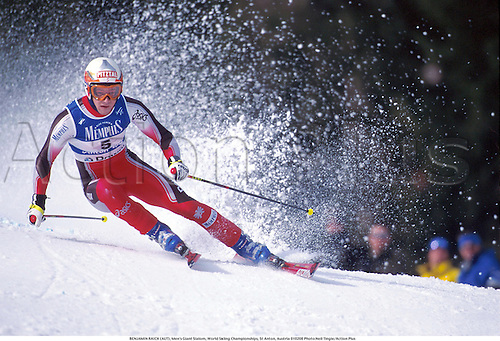BENJAMIN RAICH (AUT), Men's Giant Slalom, World Skiing Championships, St Anton, Austria 010208 Photo:Neil Tingle/Action Plus...2001.winter sport.winter sports.wintersport.wintersports.alpine.ski.skier.man