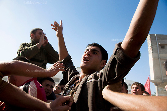 2010 December 3 - Jabalya - Gaza.<br /> Funeral of Islamic Jihad militant, Jalal Nasser, in Jabalya refugee camp. Nasser was one of the two militants, killed along the Gaza-Israel border fence, by the Israeli army the day before. .