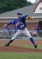 July 26, 2003:  Pitcher Jeremy Harper (29) of the Auburn Doubledays, Class-A affiliate of the Toronto Blue Jays, during a game at Dwyer Stadium in Batavia, NY.  Photo by:  Mike Janes/Four Seam Images