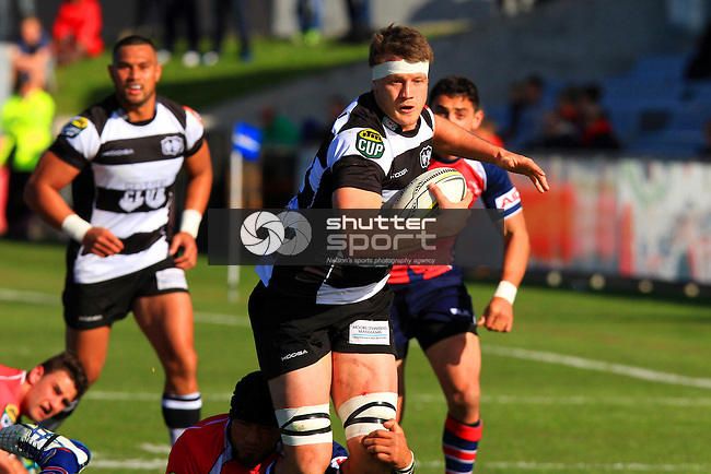 Micheal Allardice in the Tasman Makos vs Hawkes Bay Magpies ITM Cup rugby match held at Lansdowne Park, Blenheim 17th August 2014. Photo Gavin Hadfield / Shuttersport