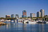 Rainbow Harbor, Long Beach Skyline, California, USA