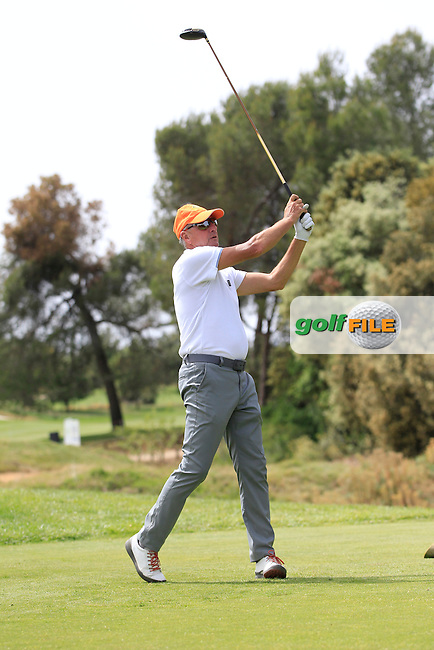 Playing with Matteo Manassero (ITA) on the 10th tee during the Pro-Am of the Open de Espana  in Club de Golf el Prat, Barcelona on Wednesday 13th May 2015.<br /> Picture:  Thos Caffrey / www.golffile.ie