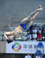 China's Jianfeng Peng competes in the Men's 3m Springboard Semifinal A<br /> <br /> Photographer Hannah Fountain/CameraSport<br /> <br /> FINA/CNSG Diving World Series 2019 - Day 2 - Saturday 18th May 2019 - London Aquatics Centre - Queen Elizabeth Olympic Park - London<br /> <br /> World Copyright © 2019 CameraSport. All rights reserved. 43 Linden Ave. Countesthorpe. Leicester. England. LE8 5PG - Tel: +44 (0) 116 277 4147 - admin@camerasport.com - www.camerasport.com