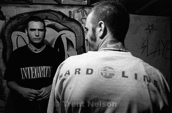 Kevin Clark and David Clark, hardline straightede. Kevin has the dark shirt on<br />