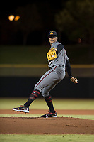 Salt River Rafters starting pitcher Jon Duplantier (31), of the Arizona Diamondbacks organization, delivers a pitch during an Arizona Fall League game against the Scottsdale Scorpions at Scottsdale Stadium on October 12, 2018 in Scottsdale, Arizona. Scottsdale defeated Salt River 6-2. (Zachary Lucy/Four Seam Images)