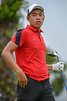 Cheng JIN (CHN) heads down 12 during Rd 4 of the Asia-Pacific Amateur Championship, Sentosa Golf Club, Singapore. 10/7/2018.<br /> Picture: Golffile | Ken Murray<br /> <br /> <br /> All photo usage must carry mandatory copyright credit (&copy; Golffile | Ken Murray)