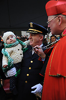 www.acepixs.com<br /> March 17, 2017  New York City<br /> <br /> Cardinal Archbishop Timothy Dolan at the St Patrick's Day Parade on March 17, 2017 in New York City.<br /> <br /> Credit: Kristin Callahan/ACE Pictures<br /> <br /> <br /> Tel: 646 769 0430<br /> Email: info@acepixs.com