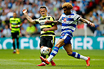 Daniel Williams of Reading challenges Jonathan Hogg of Huddersfield Town during the SkyBet Championship Play Off Final match at the Wembley Stadium, England. Picture date: May 29th, 2017.Picture credit should read: Matt McNulty/Sportimage
