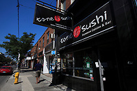 Toronto (ON) CANADA - July 2012 - Queen street west - suchi