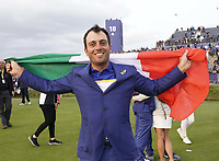 Francesco Molinari (Team Europe) celebrate after winning back the Ryder Cup, Le Golf National, Iles-de-France, France. 30/09/2018.<br /> Picture Claudio Scaccini / Golffile.ie<br /> <br /> All photo usage must carry mandatory copyright credit (&copy; Golffile | Claudio Scaccini)