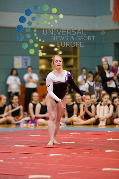Amy Regan Scottish commonwealth gymnast performing at the 2012 gymfest Bishopbriggs Leisuredrome