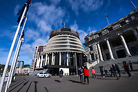 National MPs arrive at NZ Parliament Buildings in Wellington, New Zealand on Thursday, 4 July 2019. Photo: Dave Lintott / lintottphoto.co.nz