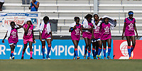 Bradenton, FL - Sunday, June 10, 2018: Haiti during a U-17 Women's Championship match between the United States and Haiti at IMG Academy.  USA defeated Haiti 3-2 to advance to the finals.