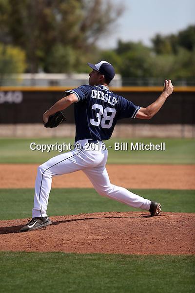 Aaron Cressley - San Diego Padres 2016 spring training (Bill Mitchell)