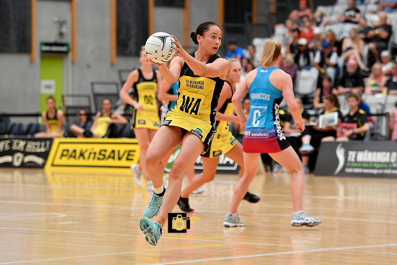 Pulse&rsquo; Whitney Souness in action during the  Preseason Tournament - Pulse v Steel at Ngā Purapura, Otaki, New Zealand on Sunday 10 February  2019. <br /> Photo by Masanori Udagawa. <br /> www.photowellington.photoshelter.com