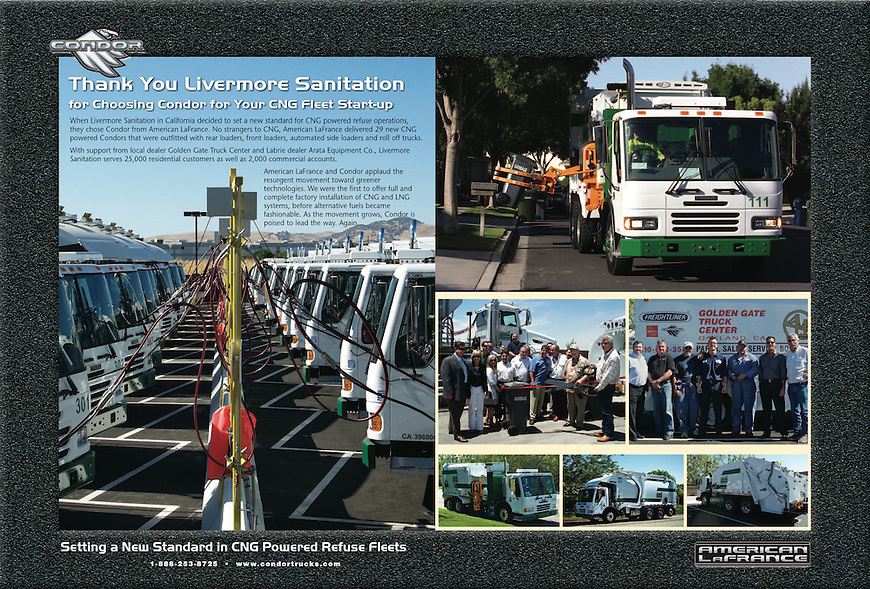 Condor Truck Advertisement-Waste Age Magazine, September 2010.<br />