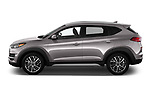 Car driver side profile view of a 2019 Hyundai Tucson SEL 5 Door SUV