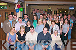 DOUBLE: Double birthday celebrtationn were held in O Riadas Bar & Restaurant, Ballymacelligott, Tralee on Friday night as Willie Marshall (seated 3rd from left) and Eric Mc Sweeney (seated 2nd from right) celebrated their joint 21st with Family and friends..