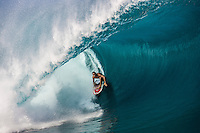 Shane Dorian (HAW), surfing Teahupo'o during the swell known as Maydayz in 2005. Photo: joliphotos.com