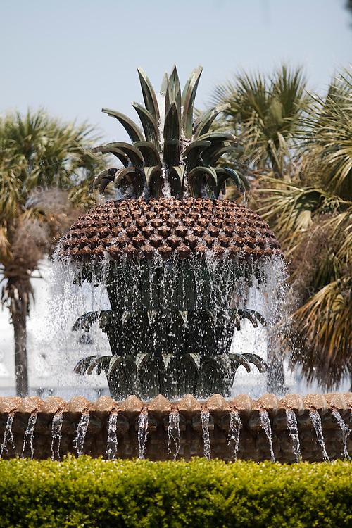 The Pineapple Fountain at Charleston Waterfront park Charleston South Carolina