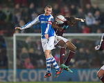 Hearts v St Johnstone.....05.03.13      SPL.Dave Mackay and Michael Ngoo.Picture by Graeme Hart..Copyright Perthshire Picture Agency.Tel: 01738 623350  Mobile: 07990 594431