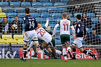 Brad Potts scores Barnsley's opening goal during Millwall vs Barnsley, Emirates FA Cup Football at The Den on 6th January 2018