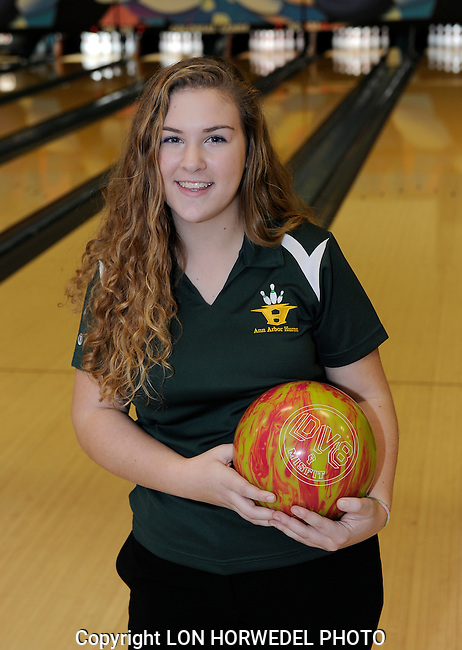 Huron High School girl's bowling team.